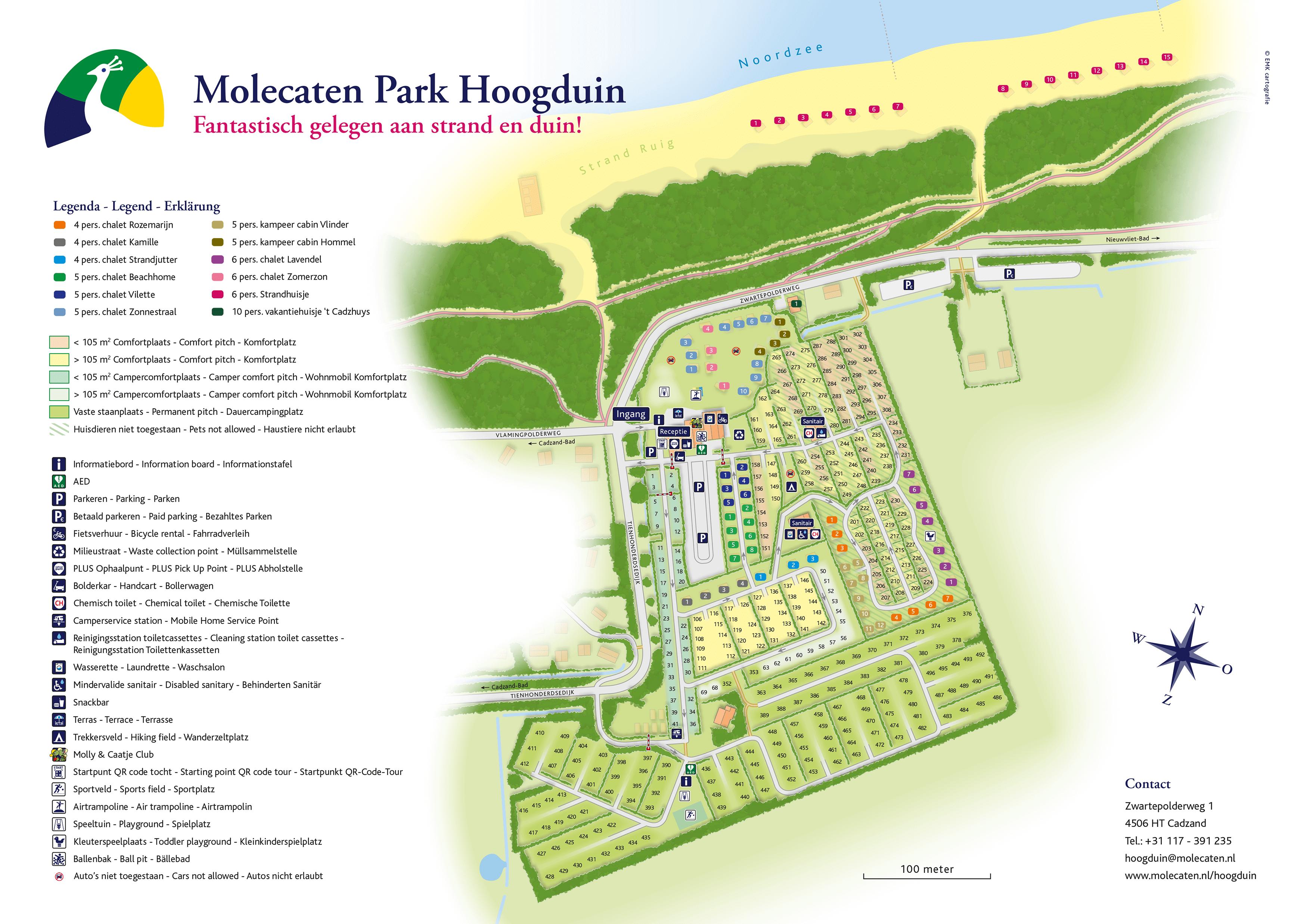 Molecaten Park Hoogduin accommodation.parkmap.alttext