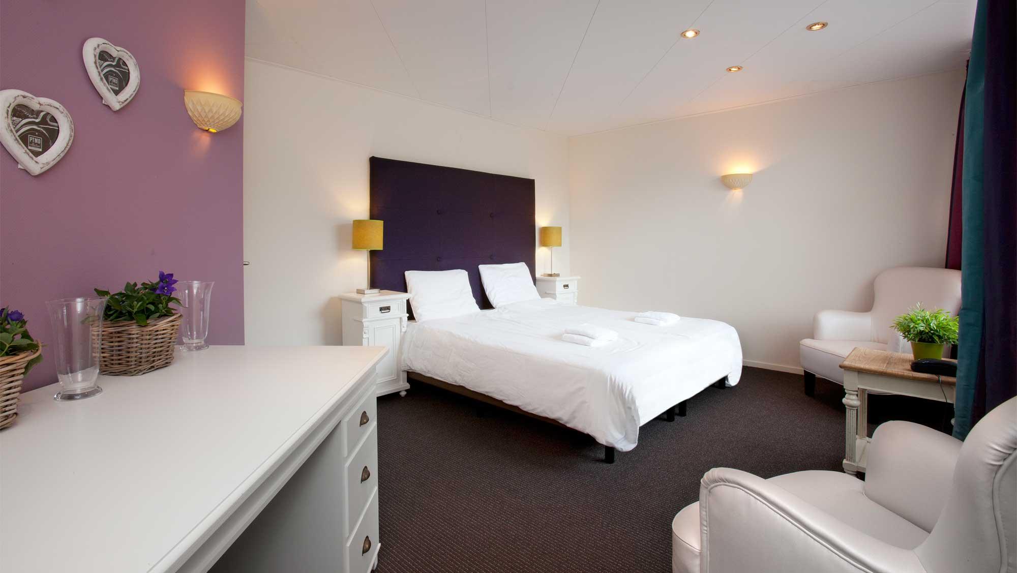 Gastenverblijf luxe kamer Molecaten Park Landgoed Ginkelduin