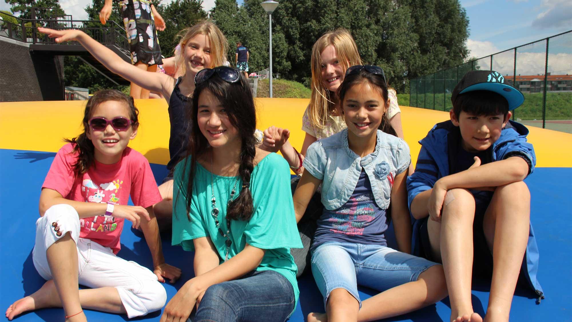 Kinderfeestje op Molecaten Park Flevostrand 05 airtrampoline