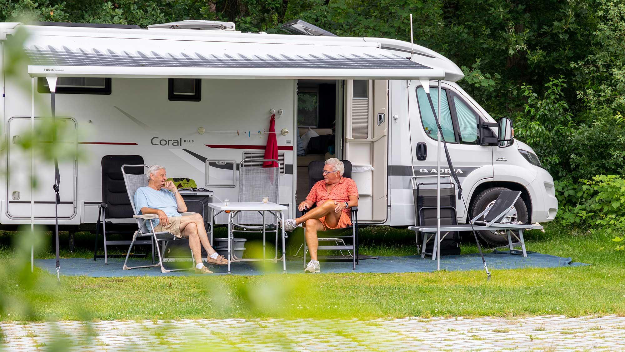 Camper comfortplaats Molecaten Park Landgoed Ginkelduin 01