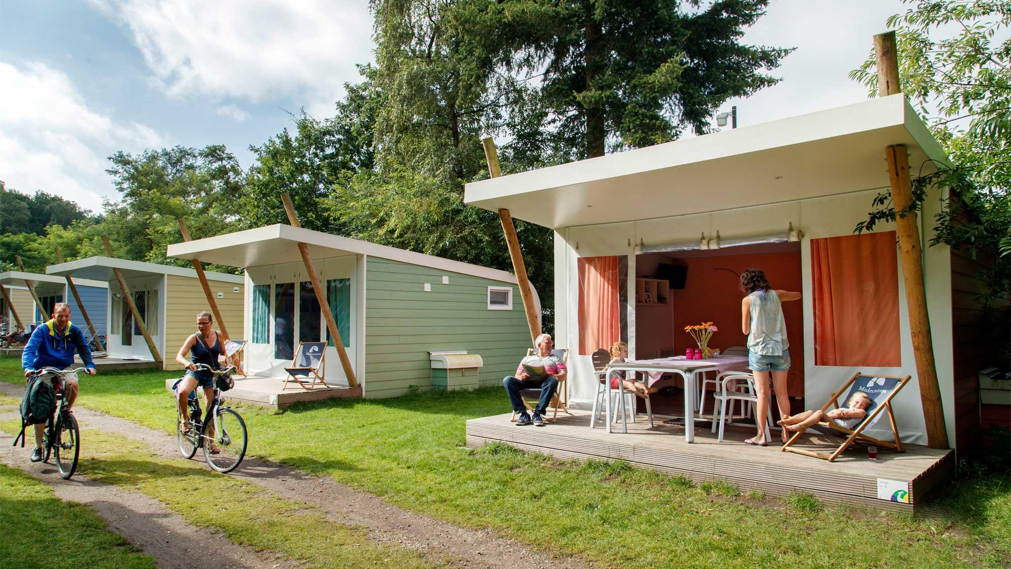 5pers kampeer cabin Vlinder Molecaten Park Landgoed Ginkelduin 01